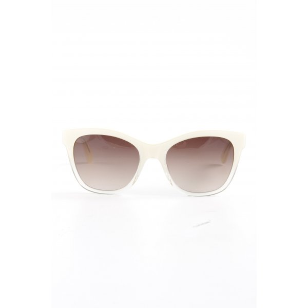 East ovale Sonnenbrille creme Casual-Look
