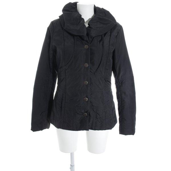 Easy Comfort Lange Jacke schwarz Casual-Look