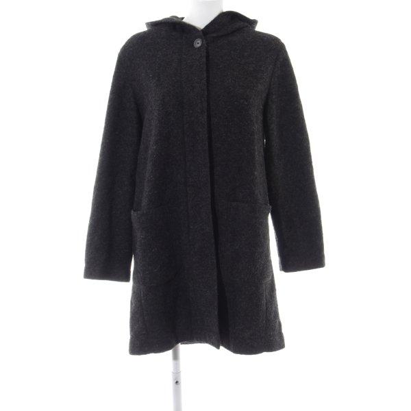 Easy Comfort Wollmantel schwarz Casual-Look