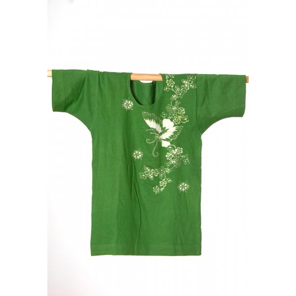 Batik shirt groen
