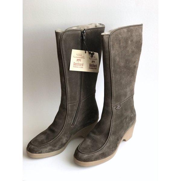 Echt Leder Stiefel Vintage Velour Winterstiefel Gr 38 Lammfell Gotthard Fussgesund Blogger Stiefel