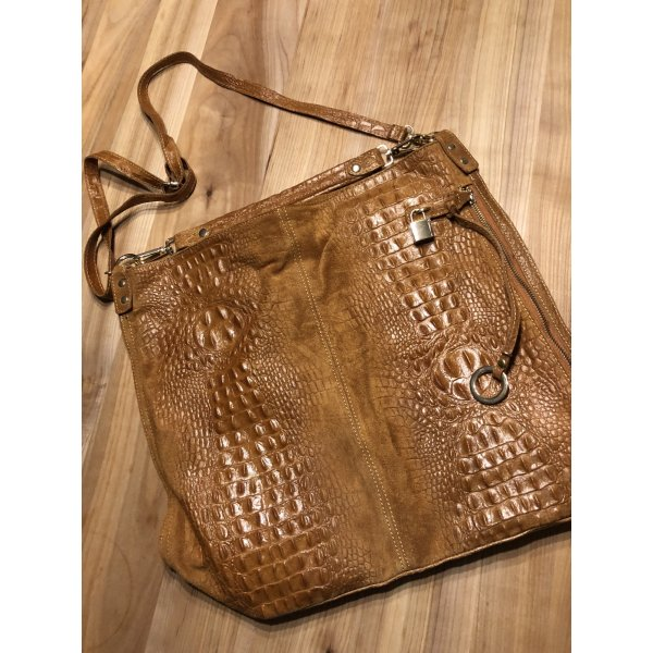 Echtleder -Shopping-Bag - Tasche - NEU - braun