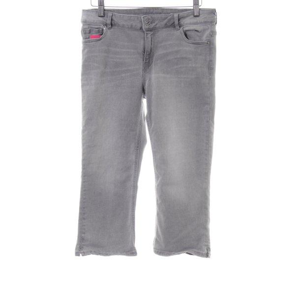 edc 3/4 Jeans hellgrau Farbverlauf Casual-Look