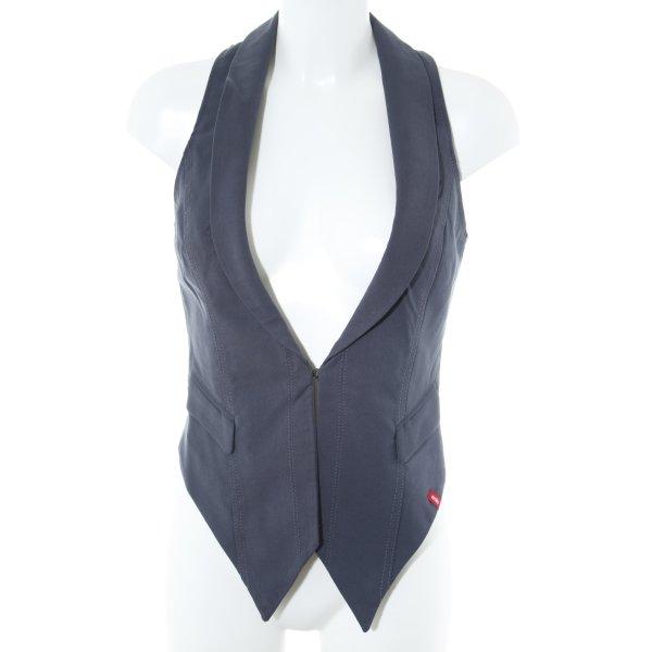 edc by Esprit Anzugweste dunkelblau klassischer Stil