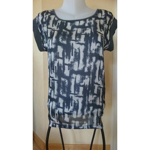 Edc by Esprit T-Shirt Gr M grau/weiß