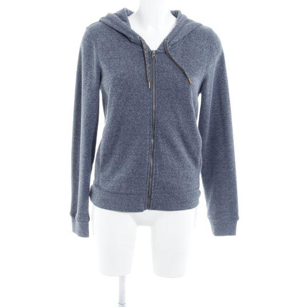 Edc Esprit Kapuzenpullover graublau meliert schlichter Stil