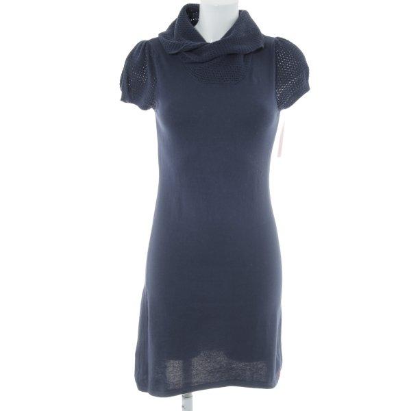 Edc Esprit Strickkleid dunkelblau Lochstrickmuster schlichter Stil