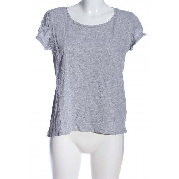 edc T-Shirt hellgrau meliert Casual-Look