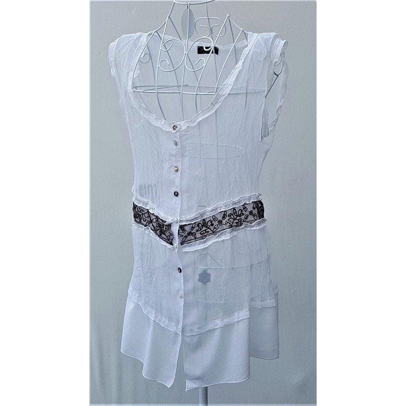 """edele, luftige, transparente Bluse von """"Apanage"""" Gr. 38/40 -neuwertig-"""