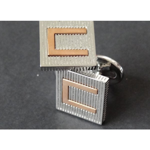 Cerruti Button silver-colored-sand brown stainless steel