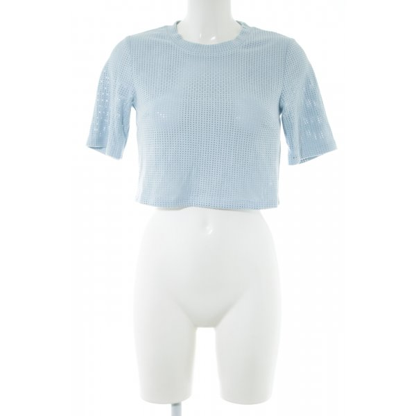 Edited Cropped Top blau Allover-Druck Casual-Look
