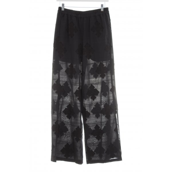 Edited Culottes schwarz abstraktes Muster Casual-Look