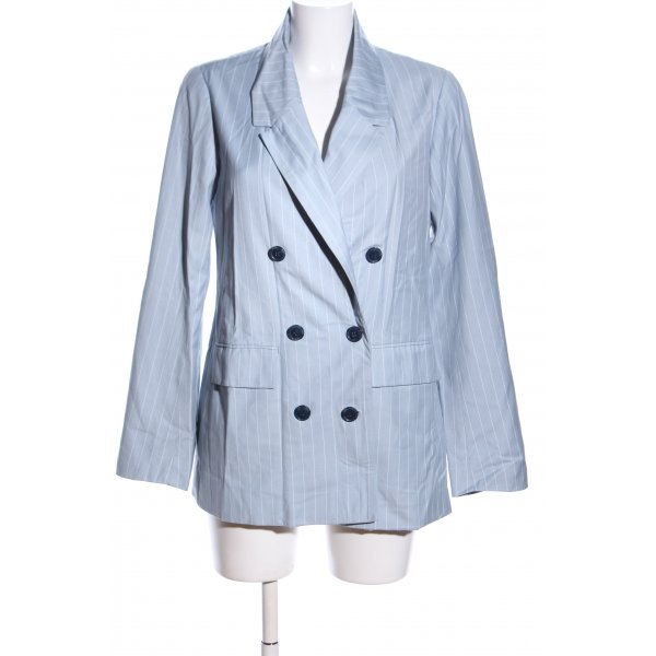 Edited Long-Blazer blau-weiß Streifenmuster Business-Look