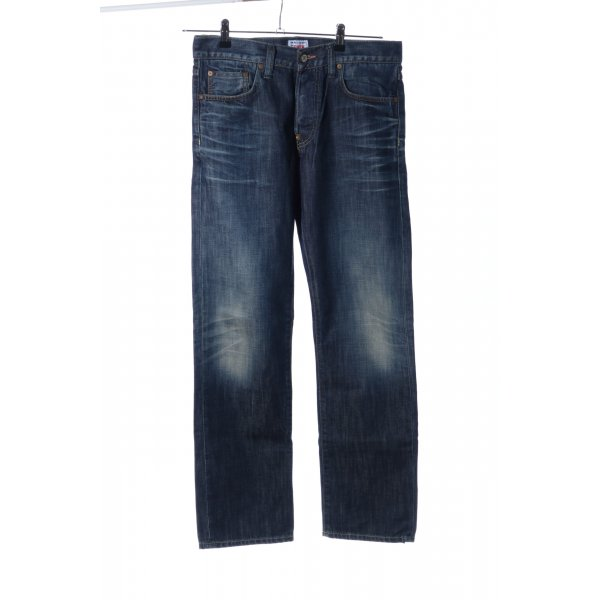 Edwin Straight-Leg Jeans blau Casual-Look