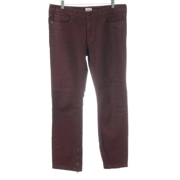 Edwin Straight-Leg Jeans karminrot-himmelblau Casual-Look