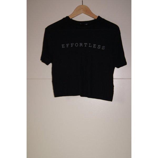 Effortless Cropped Shirt, Croppedtop, Kurzshirt in weichem Feinripp