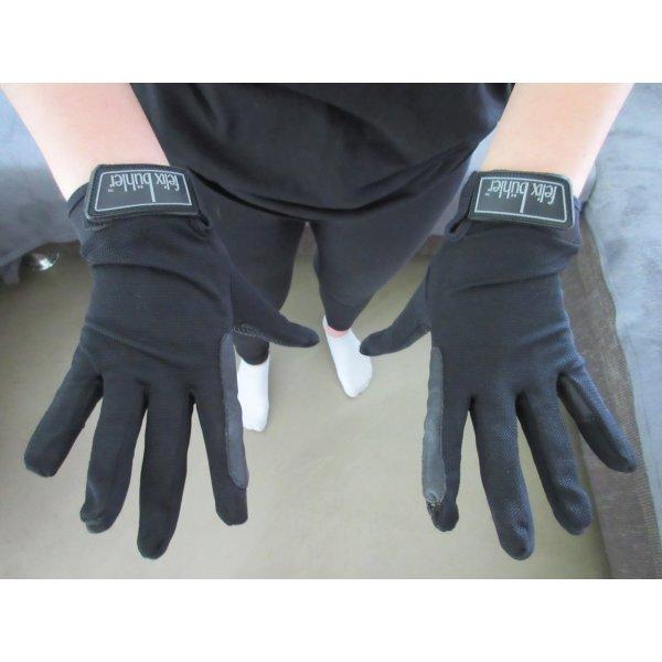Guantes con dedos negro Poliéster