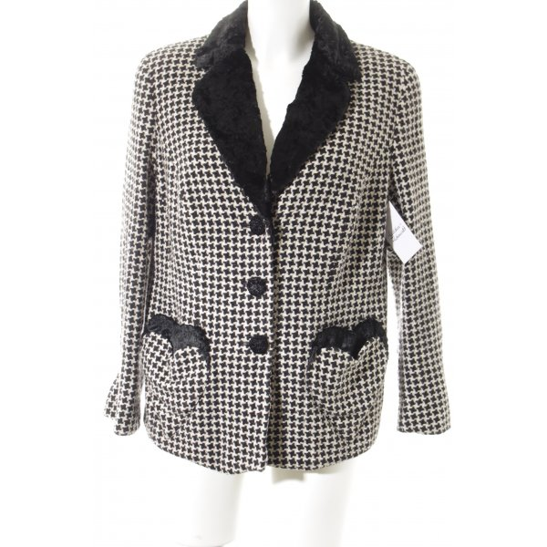 Elégance Paris Strickblazer schwarz-weiß 20ies-Stil