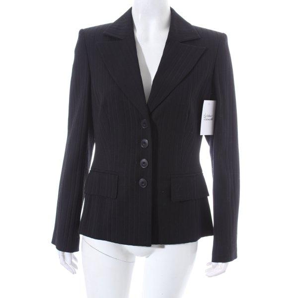 Elegance Prestige Woll-Blazer schwarz Streifenmuster klassischer Stil