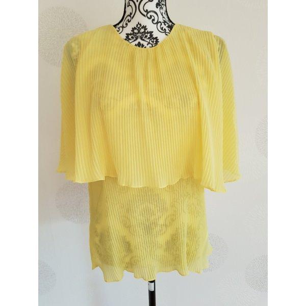Elegant Oberteil Bluse Gr 36 S gelb Zara Neu