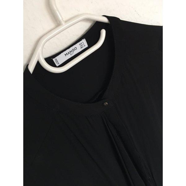 Elegante Bluse Mango Schwarz ausgefallen elegant