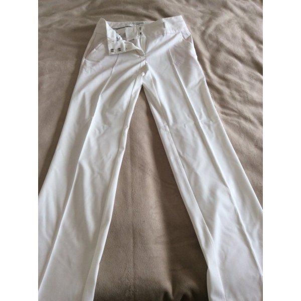 Promod Marlene Trousers natural white-cream textile fiber