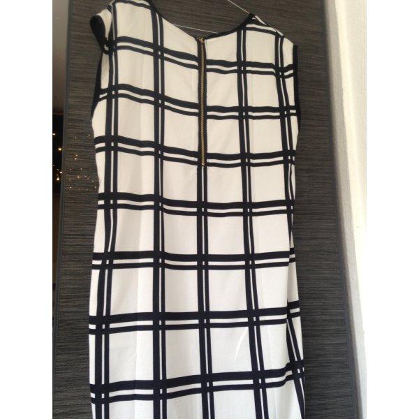 Elegantes Kleid weiß schwarz Karo