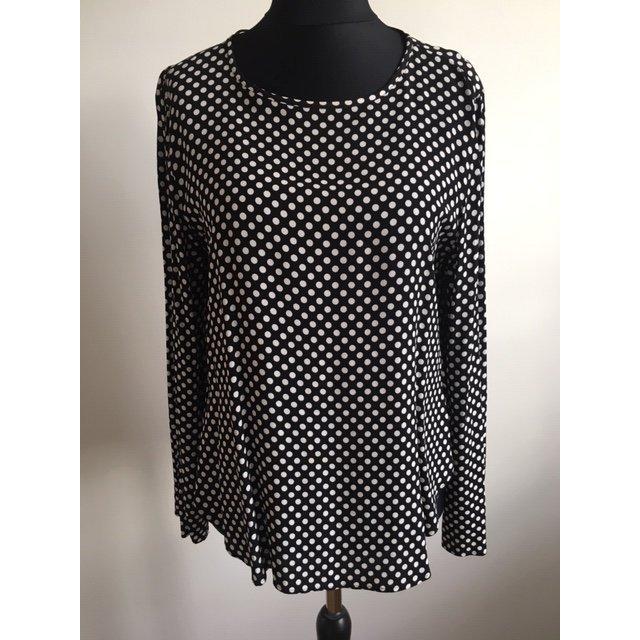 Elegantes Oberteil schwarz mit weissen Punkten Zara.