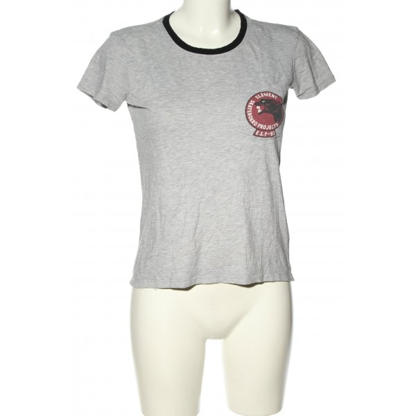Element T-Shirt meliert Casual-Look