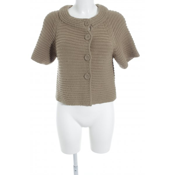 elements by TAIFUN Collection Kurzarmstrickjacke camel Casual-Look
