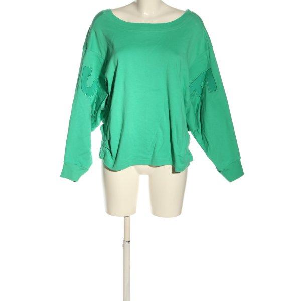 Elias Rumelis Sweatshirt grün Schriftzug gedruckt Casual-Look