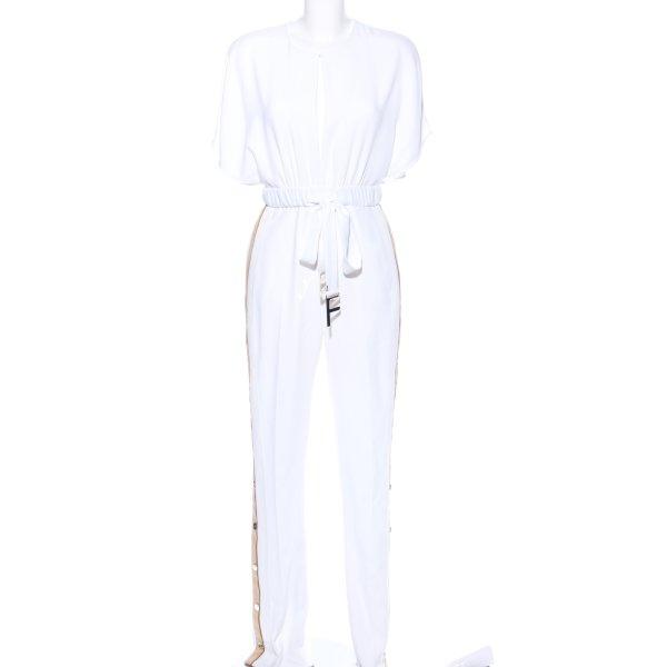 Elisabetta Franchi Jumpsuit weiß-creme Casual-Look