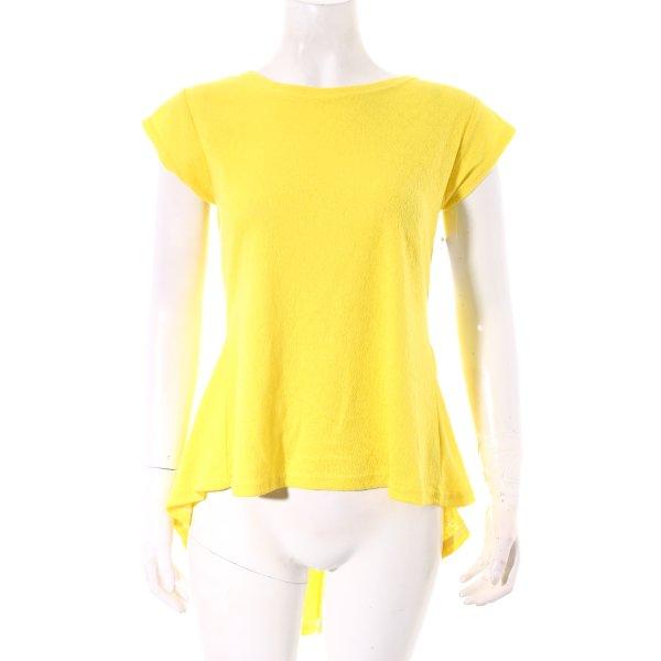 Elite99 Longshirt gelb Romantik-Look