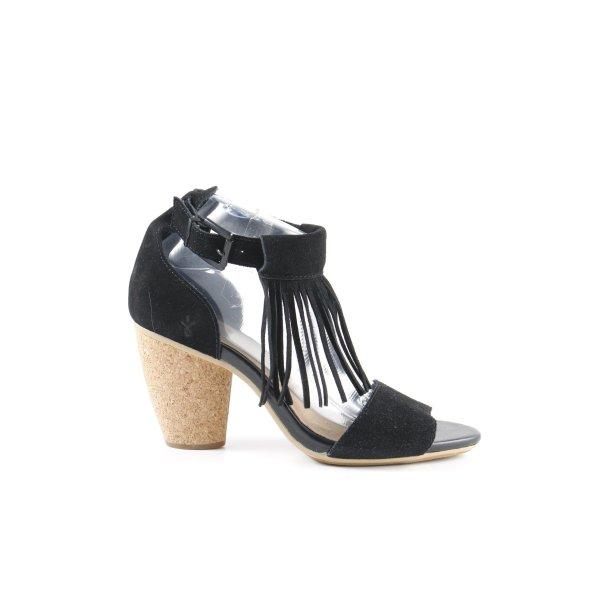 Emu High Heel Sandaletten schwarz Gypsy-Look