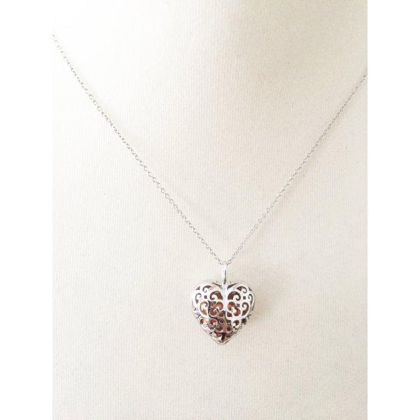 Engelsrufer Anhänger 'Herz Ern-16-Heart-S' in Pfirsich / Apricot mit Kette aus Sterling Silber NEU mit Originalverpackung und Zertifikat