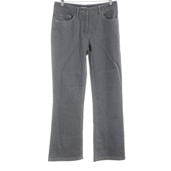 enna Straight-Leg Jeans hellgrau Casual-Look