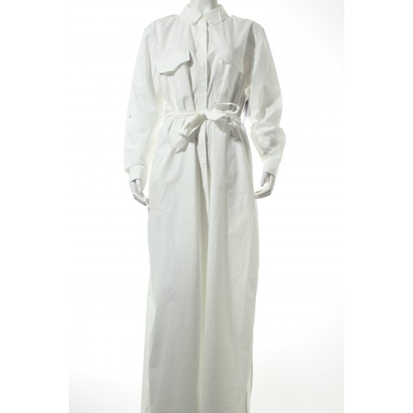 Equipment Hemdblusenkleid weiß schlichter Stil