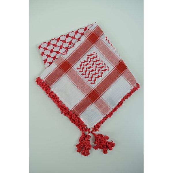 ERFURT LUXURY Tuch Pali-Tuch Schal Mod. 30056 ARAFAT Weiß Rot