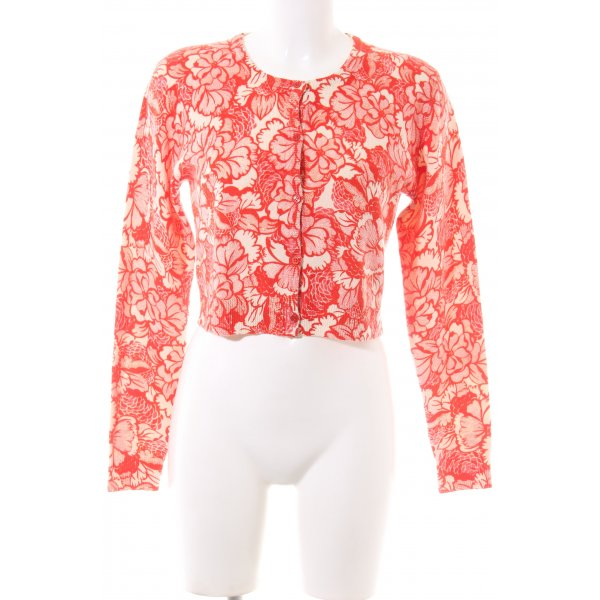 Eric Bompard Cardigan rot-creme Allover-Druck Casual-Look