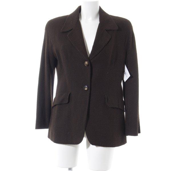 Erreuno Woll-Blazer schwarz-dunkelbraun klassischer Stil