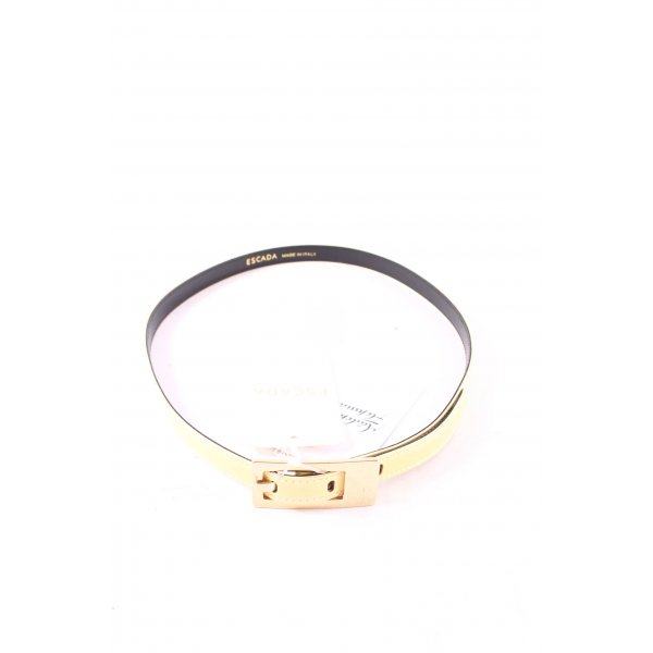 Escada Leather Belt gold-colored-pale yellow simple style