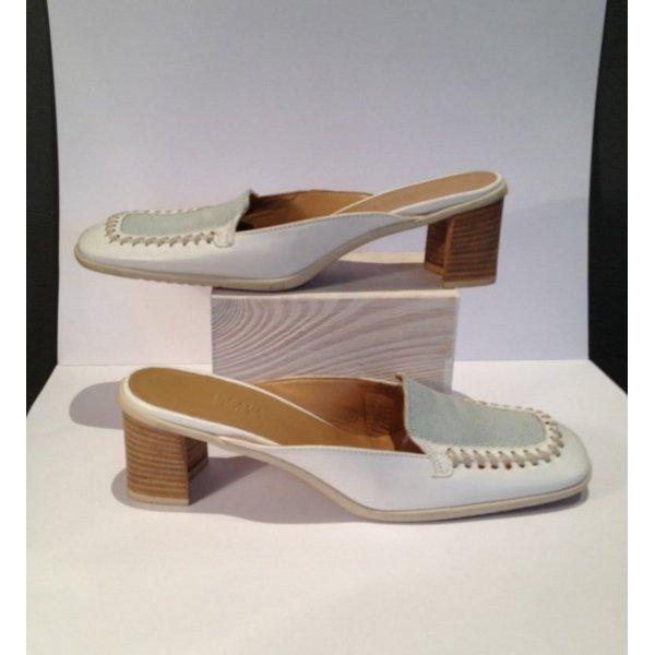 Escada Sport Platform High-Heeled Sandal white leather