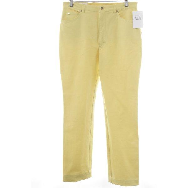 Escada Straight-Leg Jeans blassgelb Casual-Look