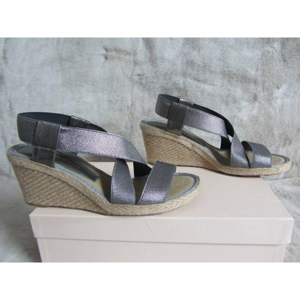 Espadrille-Sandalen mit Keilabsatz CARLO PAZOLINI, GR. 37, 1 Mal getragen