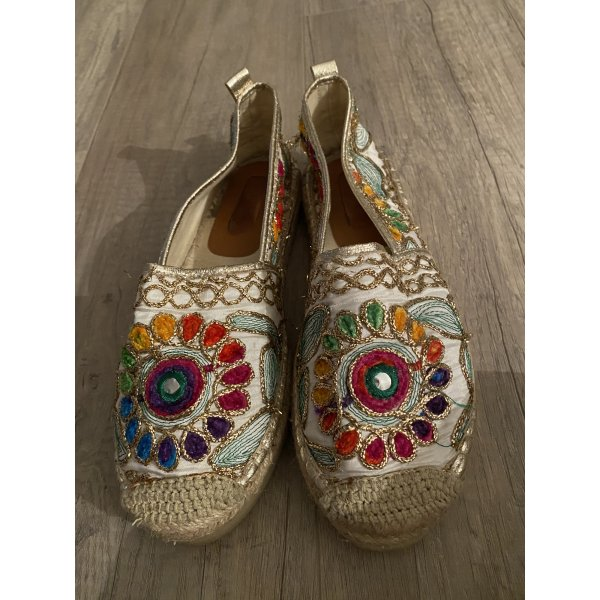 Espadrilles gold bunt slipper