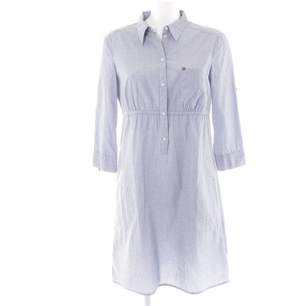 Esprit A-Linien Kleid himmelblau Webmuster Casual-Look