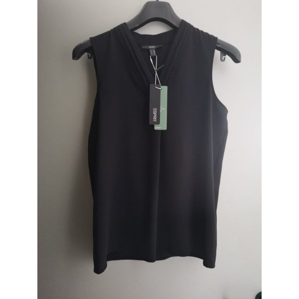 Esprit Bluse Top S 36 NEU schwarz Shirt