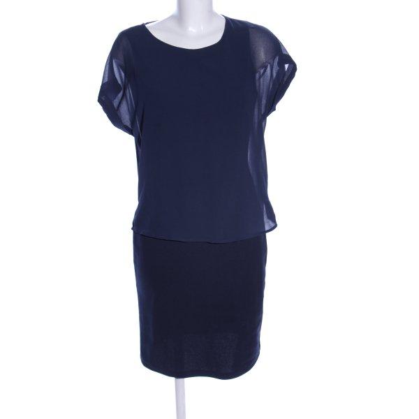 Esprit Chiffonkleid blau Casual-Look