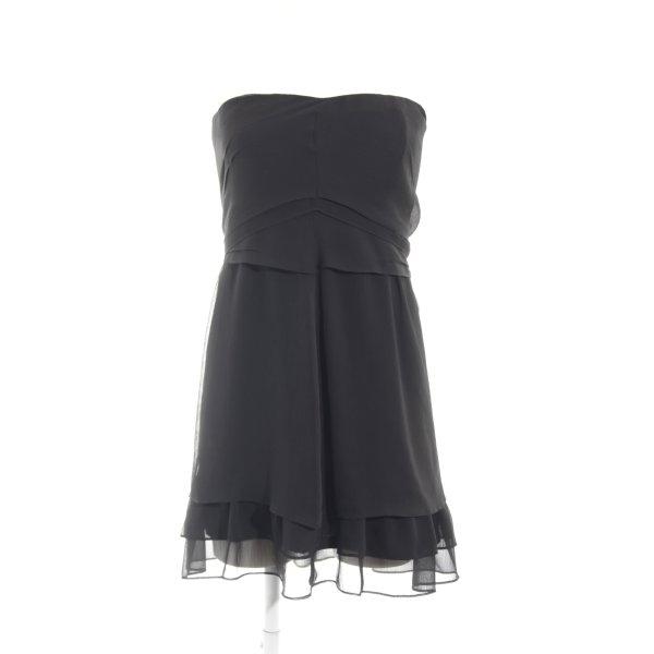 Esprit Chiffonkleid schwarz Casual-Look