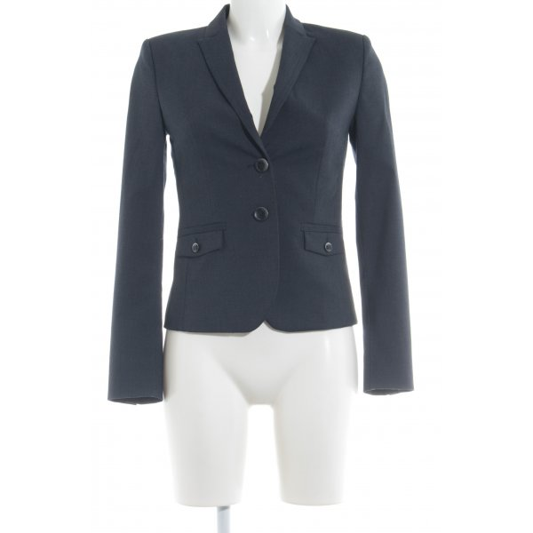 esprit collection Kurz-Blazer dunkelblau meliert Business-Look